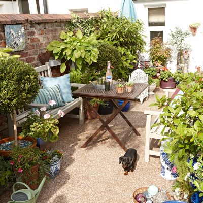 A small garden scene with good design throughout. Top five tips for small garden design by Katie Rushworth