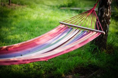 Hammock in a small garden. Tips for small garden design by Katie Rushworth