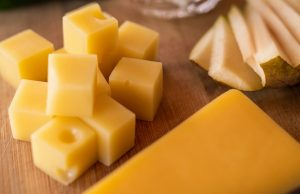 Cheese board close up