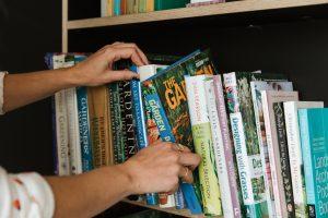 Reading gardening books for inspiration